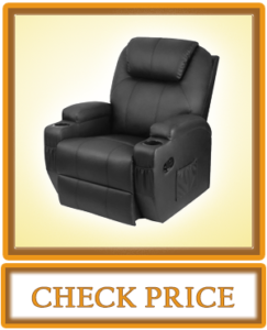 Homall Power Lift Recliner Chair with Massage Single Living Room Huge Thick Padded Heating Function Sofa Seat Black