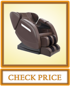 Massage Chair Recliner with Zero Gravity Full Body Air Pressure Bluetooth, Heat and Foot Roller Included Brown
