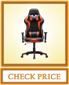 OHAHO Gaming Chair Racing Style Office Chair Adjustable Lumbar Cushion Swivel Rocker Recliner PU Leather High Back Ergonomic Computer Desk Chair with Retractable Armrest